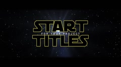 Classic Start Titles - stock after effects