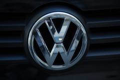 Berlin, Germany - April 21, 2016: Volkswagen emblem Stock Photos