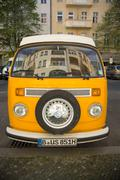 Berlin, Germany - April 21, 2016: Volkswagen van - stock photo
