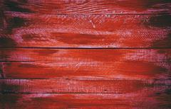 Wooden red horizontal boards. Front view Stock Photos