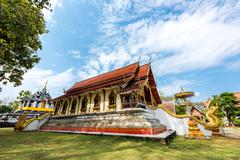 Thai temple of buddhism, Wat Phra Yuen is Thai temple in Lamphun, Northern Th Stock Photos