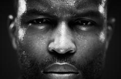 Intense African American Male Portrait Stock Photos