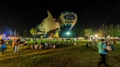 Chiang Mai, Thailand, 4 Mar 2016: Thailand International Balloon Festival 2016 9 Stock Photos
