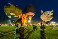 Chiang Mai, Thailand, 4 Mar 2016: Thailand International Balloon Festival 2016 9 - stock photo