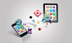 Electronic devices. Elements of this image furnished by NASA Stock Illustration