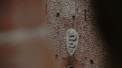 Sforza coat of arms, blurred, Vigevano, PV, Italy Stock Footage