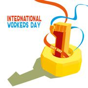 International Worker's Day. May first labor day - stock illustration