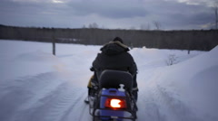 Snowmobile winter in ontario 4K video Arkistovideo