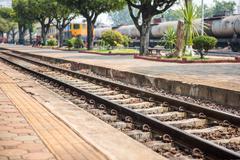 Train station in thailand Kuvituskuvat