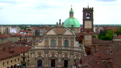 Vigevano Cathedral zoom out, Vigevano, PV, Italy Stock Footage