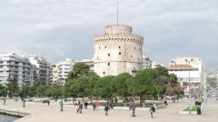 Panorama of city Thessaloniki. 4К Stock Footage