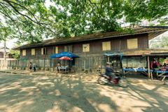 LAMPANG, Thailand - March 20, 2016 :The old village near the Train Station in - stock photo