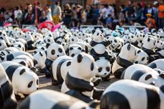 CHIANG MAI, Thailand - March 19, 2016 : 1600 Pandas World Tour in Thailand by - stock photo
