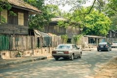 LAMPANG, Thailand - March 20, 2016 :The old village near the Train Station in Kuvituskuvat