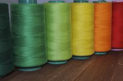 Red, Green, Yellow And Orange Thread Stock Photos