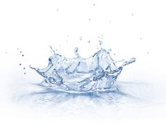Water crown splash, isolated on white background. Stock Illustration