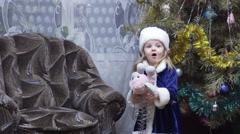 Snow Maiden and Grandfather Frost - stock footage