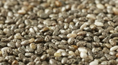 Chia seeds close up Stock Footage