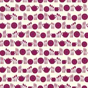 Tableware seamless pattern. - stock illustration