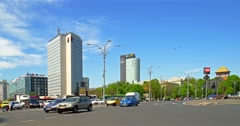 Rush Hour Traffic On Victory Square Stock Footage