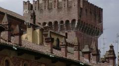 Close Up of Bramante Tower, Vigevano, PV, Italy Stock Footage