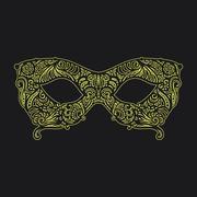 patterned masquerade Mask - stock illustration