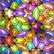 Seamless texture  abstract shiny colorful background 3D illustration Stock Illustration