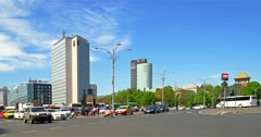 Rush Hour Traffic On Victory Square - stock footage