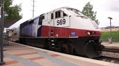 Trinity Railway Express in Dallas Stock Footage