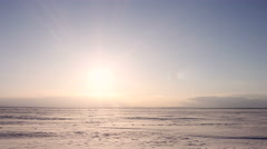 4K Time-lapse Beautiful Sunset on Arctic Alaska  Winter Stock Footage