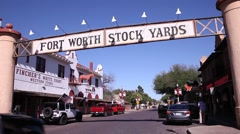 Stockyards Historic District in Fort Worth - stock footage
