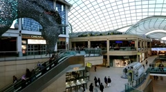 Time Lapse At Trinity Leeds , Shopping centre in Leeds, UK - stock footage