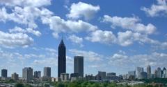 Atlanta Skyline Time Lapse Stock Footage