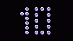 Led Wall Light counter 10 to 1 Backgrlound 4K VIOLET - stock footage