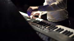Close-Up of Male Hands Playing the Piano - stock footage
