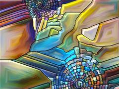 Toward Digital Stained Glass Stock Illustration