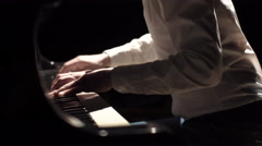 A Man Playing the Piano Stock Footage