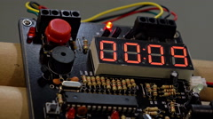 Bomb detonator counts 10 seconds Stock Footage