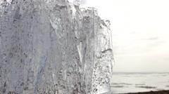 4k Time-lapse Ice melting. Global warming. Stock Footage
