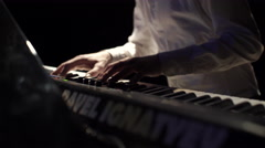 Hands Pianist Playing Music Stock Footage