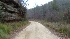 Time-lapse of off-road driving down rural Kentucky road. - stock footage