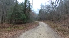 Off-road driving down rural Kentucky road 3. - stock footage