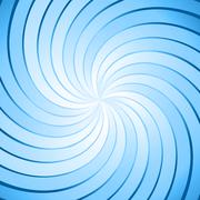 Abstract blue ray twirl background - stock illustration