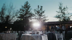 Professional lighting arrangement. Professional event photographer working Stock Footage