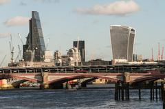 London - Scenes from the River Thames - stock photo
