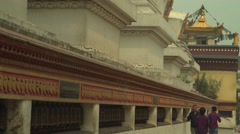 Nepal 1 Year After the Earthquake. Stupas and Prayer Wheels 4K Stock Footage