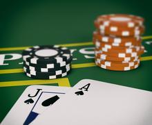 Gambling, blackjack game Stock Illustration