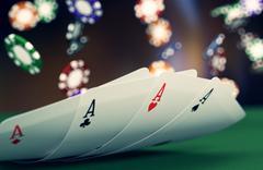 Stock Illustration of gambling, poker game