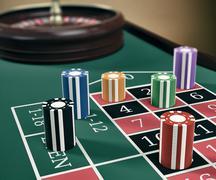 Gambling, roulette game Stock Illustration