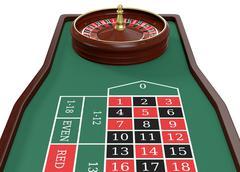 gambling, roulette game - stock illustration